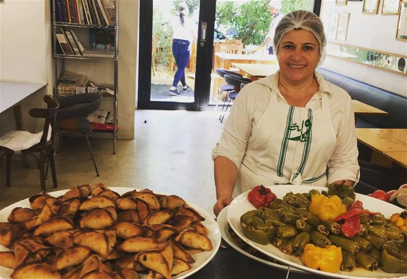 Bekaa day at Tawlet Beirut today! Our cook Nada Saber came from Kherbet...