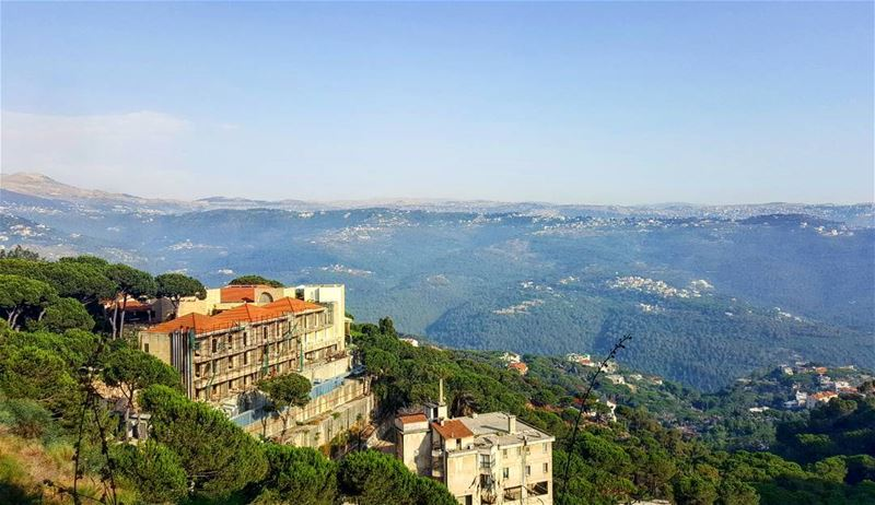 Metn view from Broumana... good morning!....  Lebanon  liban ... (Brummana)