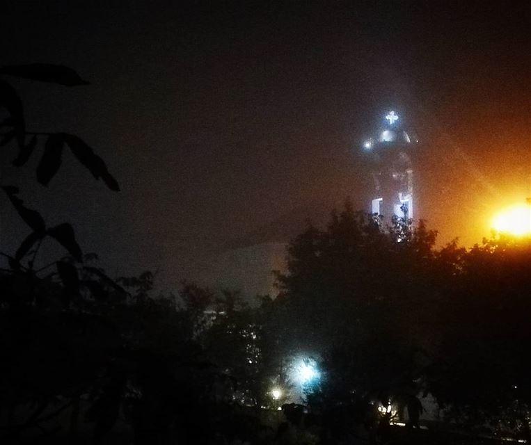 lebanon night church maronite ... (Qarnayel)