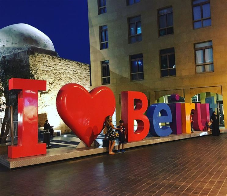 I ❤️ Beirut Lebanon lebanoninapicture ... (Downtown Beirut)