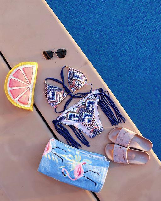 Poolside essentials ☀️☀️...... ootd lotd ootdshare ... (Koura)
