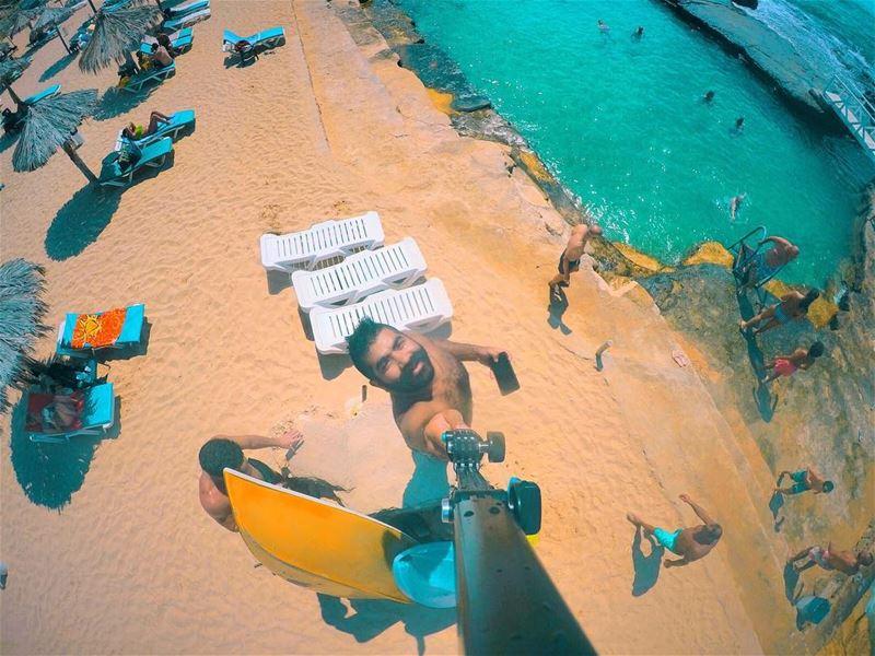 Last days of summer... 🏖 🏝 ⛱ ☀️ fun gopro goproleb sand beach ... (Lebanon)