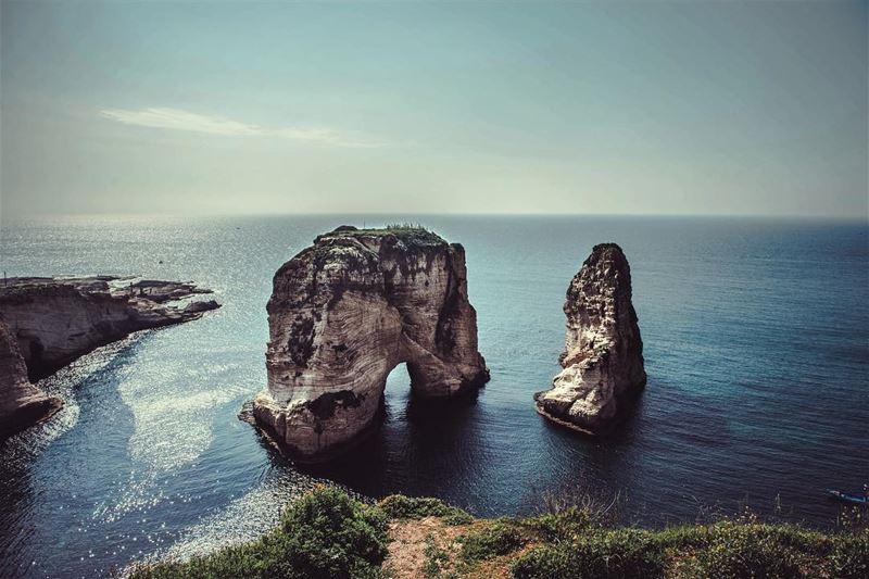 Pigeon Rock in Beirut 🇱🇧🕊 lebanon liban beirut bejrut beyrouth ... (Pigeon Rock)