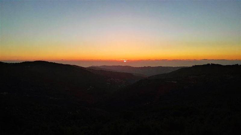 lebanon lebanese mountains mountlebanon sun sunset photography ... (Qarnayel)