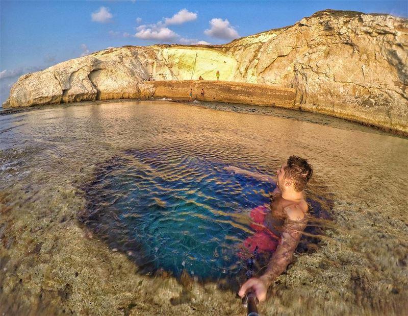 Natural bungalow🏖🌅.... beach oceon nature naturephotography... (Naqoura)