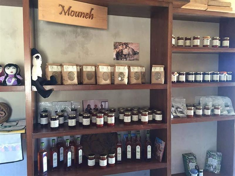 JabalMoussa's  food and  handicraft products are available at the reserve'