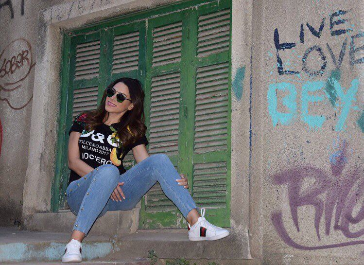 Live Love Beirut 💚🇱🇧💜 livelovebeirut livelovelebanon marmikhail ... (Beirut, Lebanon)