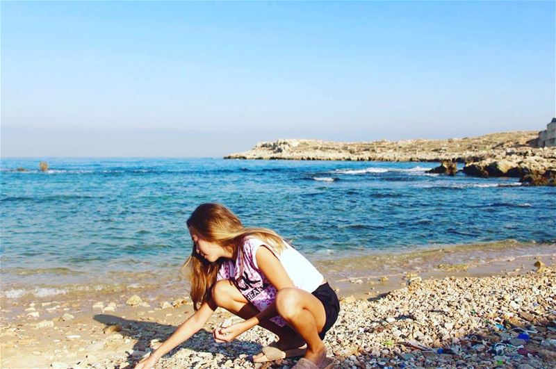 morningmotivation  seaview  angel  collecting seashells  anfeh  lebanese ...