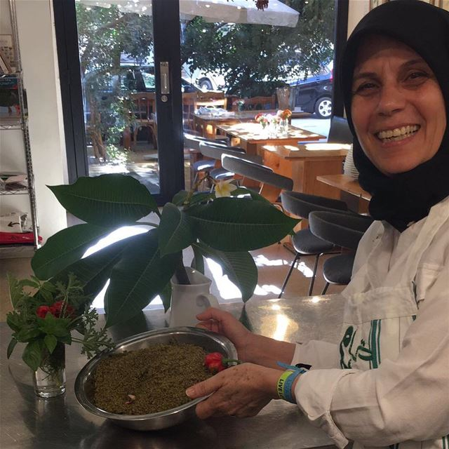 Every time she comes from Halousiyeh (South Lebanon) to cook at Tawlet...