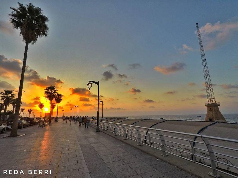 Sunset from Manara gopro goprohero5 gopro5 lebanon whatsuplebanon ... (Ain El Mreisse, Beyrouth, Lebanon)