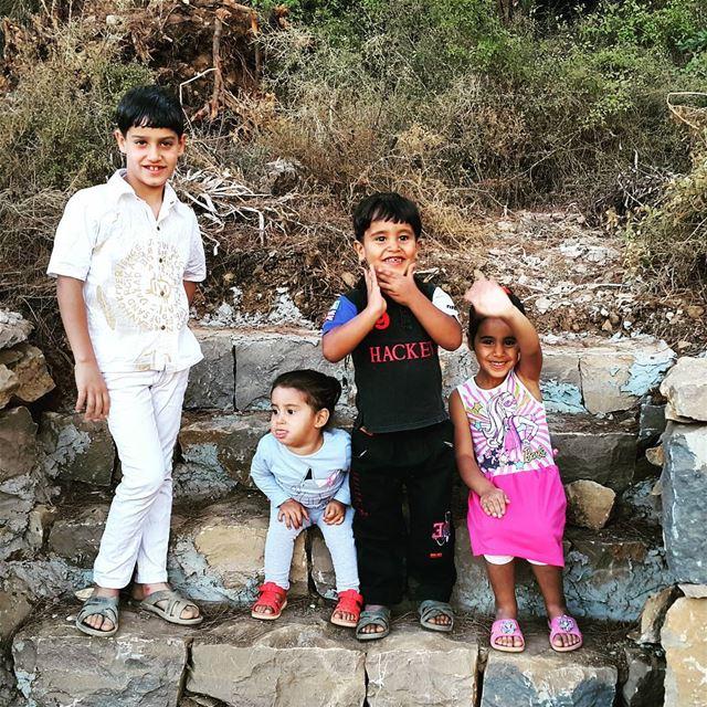 With those kids, time passes swiftly. . kids kidsmood iggloballife ... (El Qâaqoûr, Mont-Liban, Lebanon)