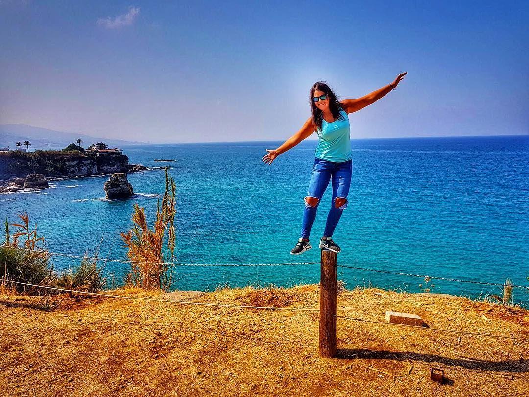 Shades of blue turquoise blue lebanon sea seaview stunning amchit ... (Amchit)