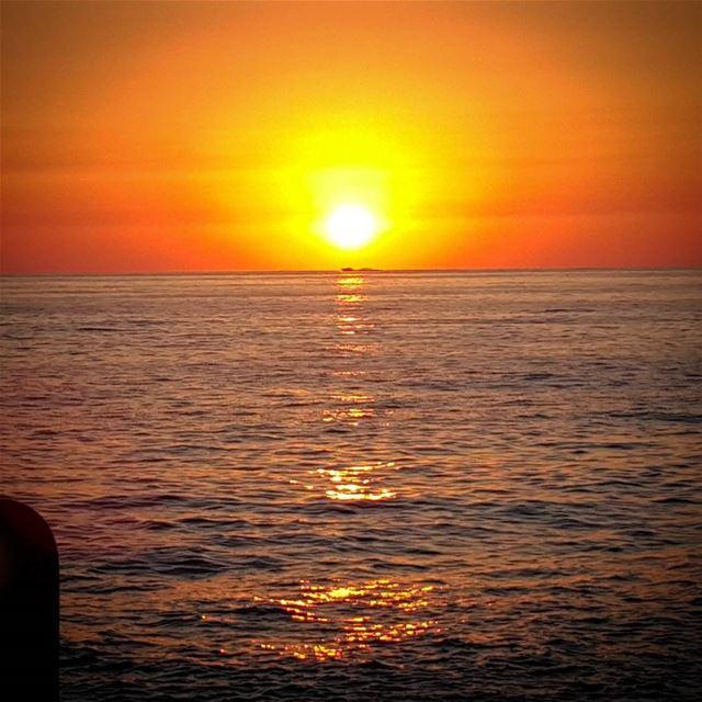 Just another sunset sunset boat horizon lebanon naturelovers ...