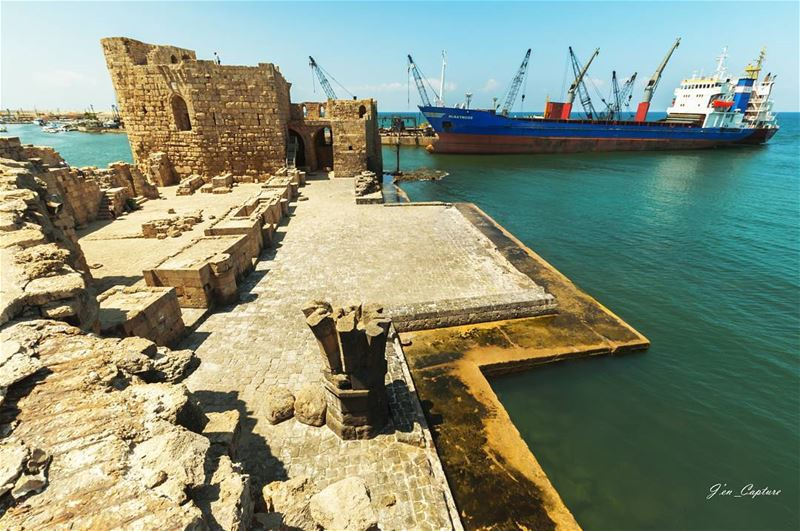 صيدا••• Lebanon sidon saida LebanonSpotlights Livelovelebanon ... (Sidon Sea Castle)