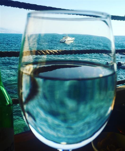 photography glass water sea boat yachts lebanon amchit view hot weather... (Babel Baher)