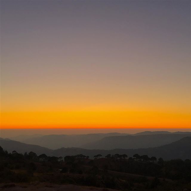 This sunset from the Highlands of the Chouf from the Bmohrein Ain-Zhalta... (Al Shouf Cedar Nature Reserve)