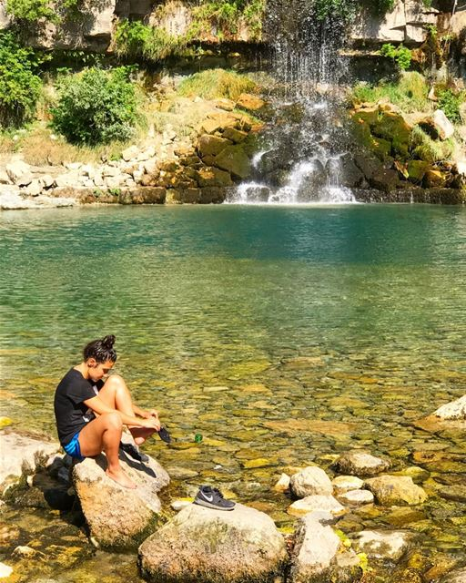 Ice cold water is always refreshing 💦 Lebanon ... (Afka, Mont-Liban, Lebanon)