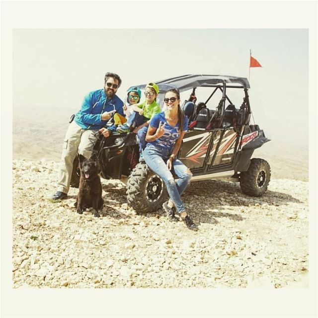 Sundays are for family 💙 @karimelhajjar @saydejabra  polarislebanon  rzr...