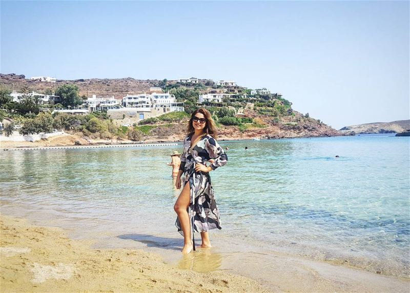 This is where I belong: Beach, Tan, Repeat ☄ mykonos greece beach l4l ... (Principote Panormos Mykonos)