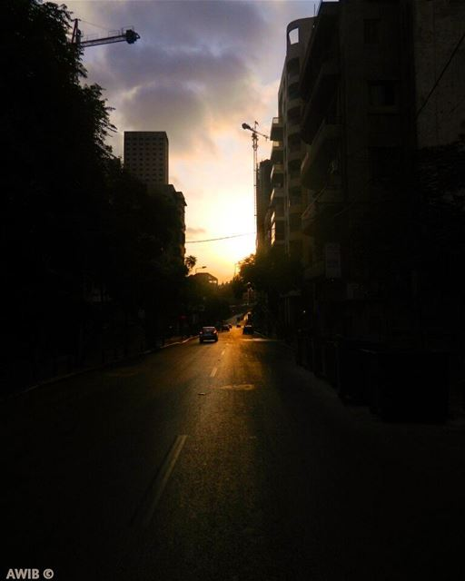 After darkness, comes the light good evening dawn streetphotography ... (Beirut, Lebanon)