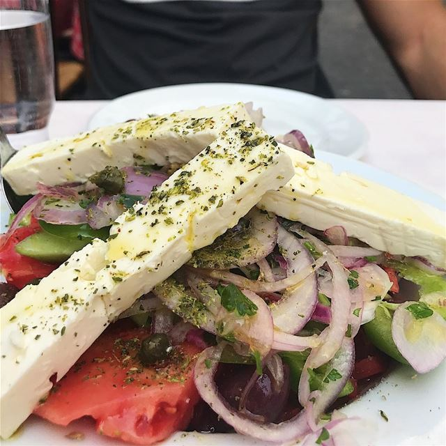 When in Greece 🇬🇷🥗❤️.... visitathens visitgreece athens ... (O Thanasis (kebab))