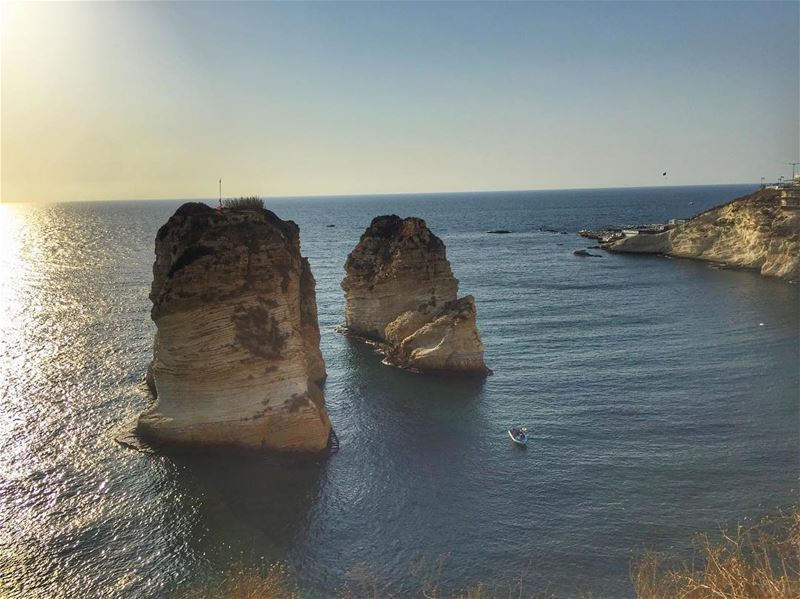 The shore near the Raouché rocks in Beirut are apparently the oldest... (Beirut, Lebanon)