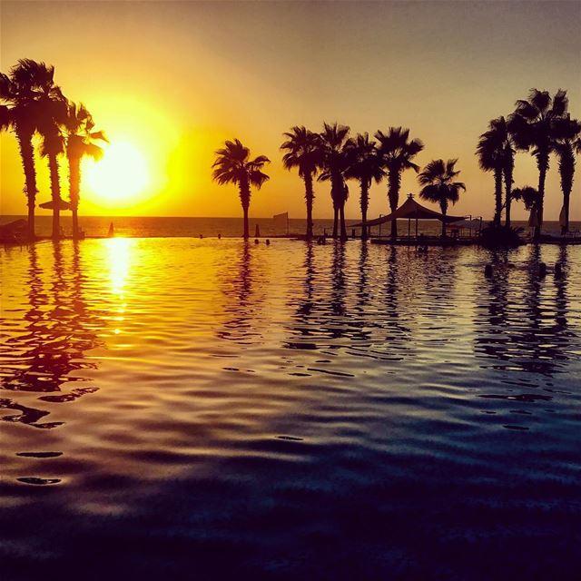 Watch more sunsets than netflix! lebanon livelovelebanon ... (Pangea Beach Resort)