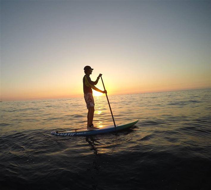Like walking on water only better. 🏄🌅 standuppaddle sunset ... (Batroûn)