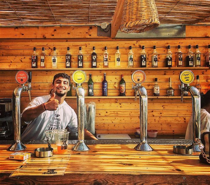 A draft and a smile 🍺😃 livelovelebanon livelovebatroun colonelbrewery... (Colonel Beer Batroun)