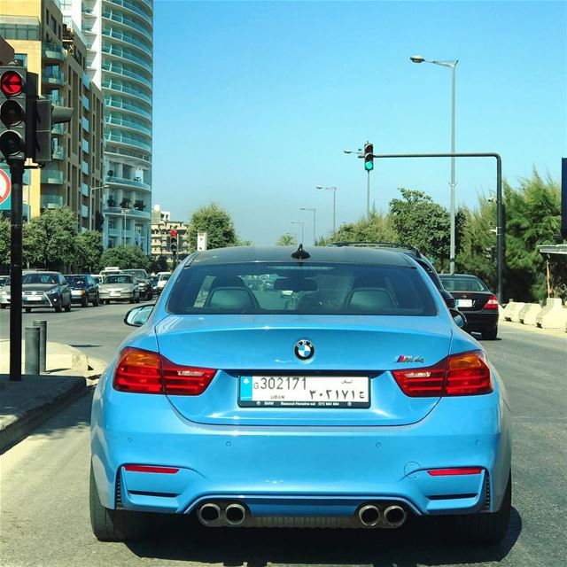 The blue beast 💎•••••••••••••••••••• bmw bmwm4 mpackage ... (Downtown Beirut)