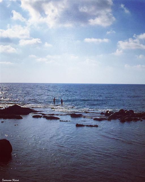 sea silhouettes blue tyr VisitLebanon lebanon ...