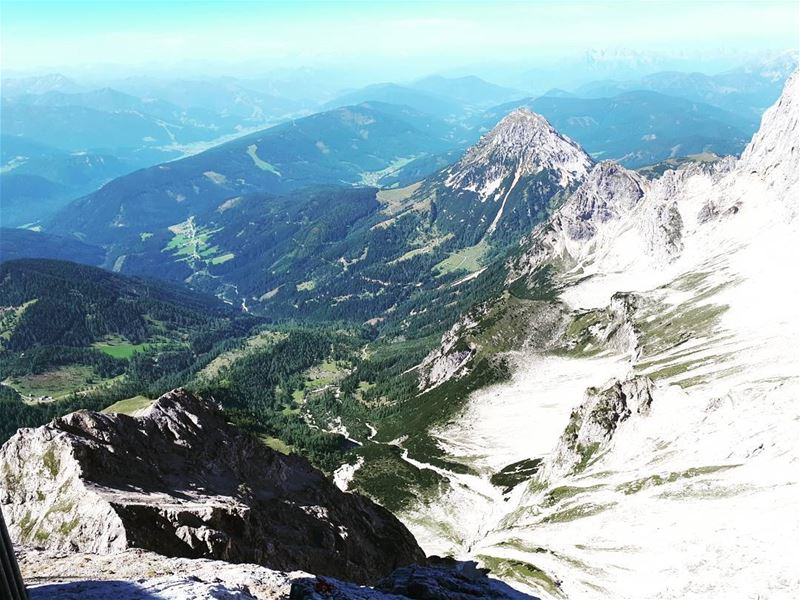 From the  cablecar 🚠 💙  alpes  dachstein from above  perfect  mountains ... (Dachstein Mountains)