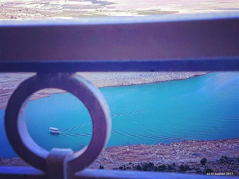 tb  qaroun  lake  boat  bekaa  lebanon  river   colorful  livelovelebanon... (Lake Qaraoun)