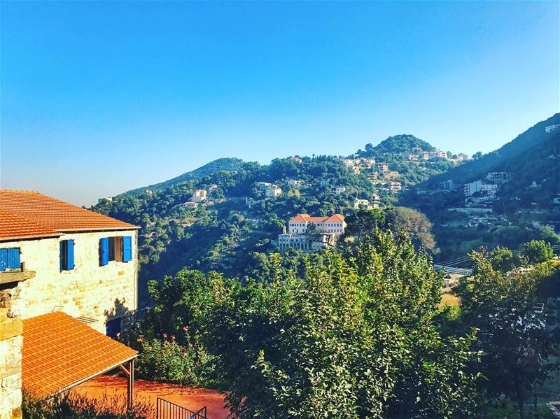 """In the background, we have the oldest school in the Middle east """"Deir ein... (Ghosta, Mont-Liban, Lebanon)"""
