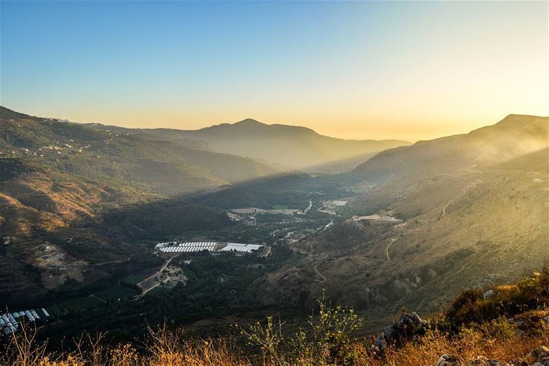 .Beautiful Sunset Today! The golden hour. The Bisri Valley, Shouf,... (Bisri, Al Janub, Lebanon)