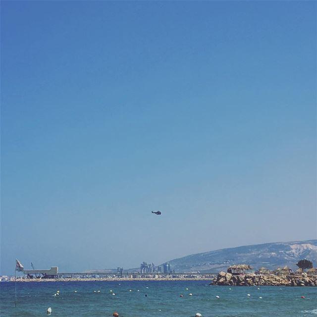 lebanon chekka heri beach summer helicopter lebanesearmy ... (El Héri, Liban-Nord, Lebanon)