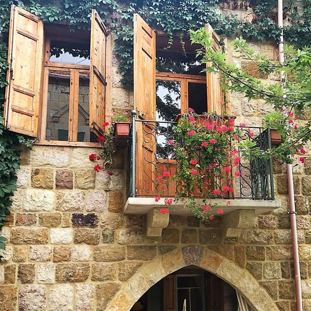 Don't miss the open windows trying to bang down locked doors 😊... (Ehden, Lebanon)