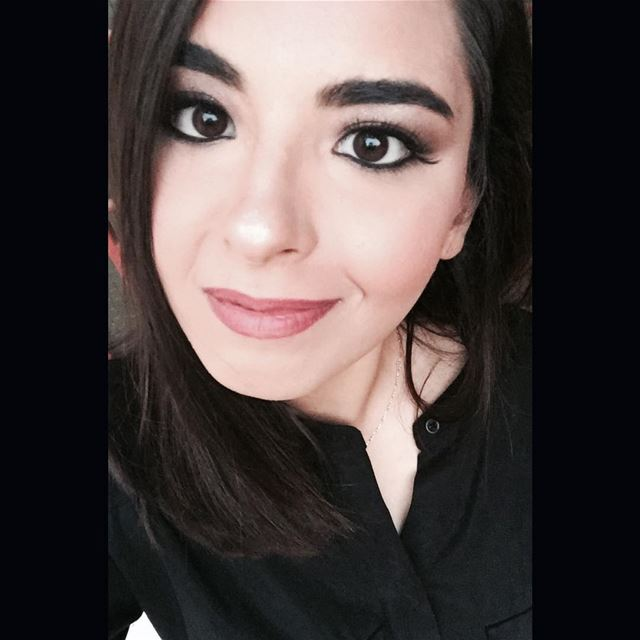 Makeup is art...thanks @elhajjahmad ❤  black  dress  selfie  livelovelife ...