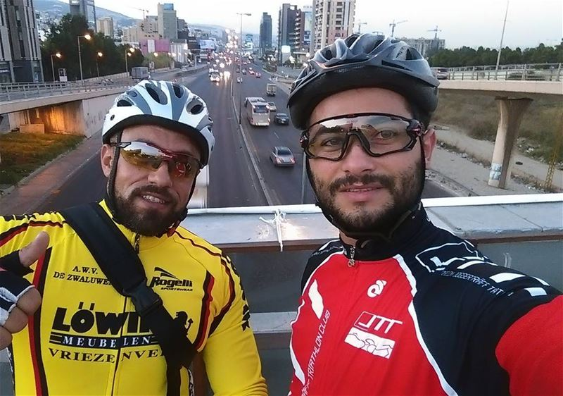 Early Morning ride with Omar 🚴🚴Good morning 🌞 Wednesday  morning ... (Dbaïyé, Mont-Liban, Lebanon)