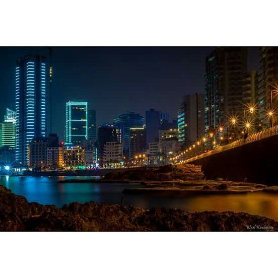 beirut  lebanon  seaside  night  nightshot  beirutlife  city  lights ...