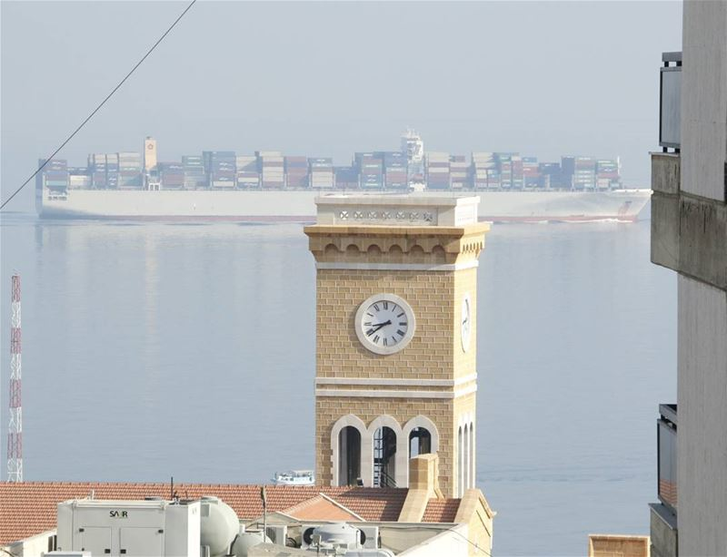 We meet at 08.40 under the Clock Tower:) aub clocktower cargovessel ...