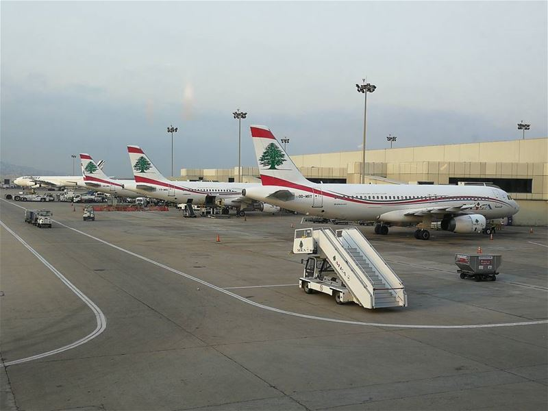 goodmorning niceday traveling airport mea middleeastairlines a320 airbus... (Beirut–Rafic Hariri International Airport)