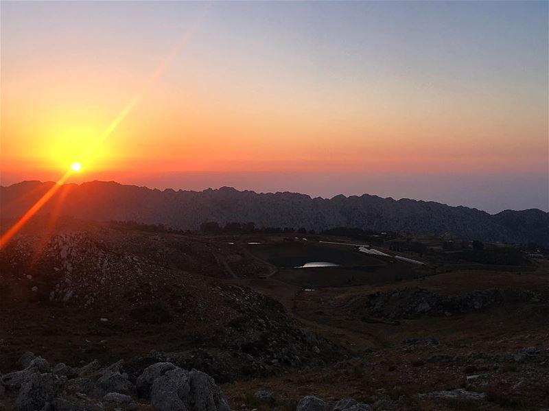 Today 👆🏻💛 todaysunset laklouk akoura lebanon sunset ... (El Laqloûq, Mont-Liban, Lebanon)