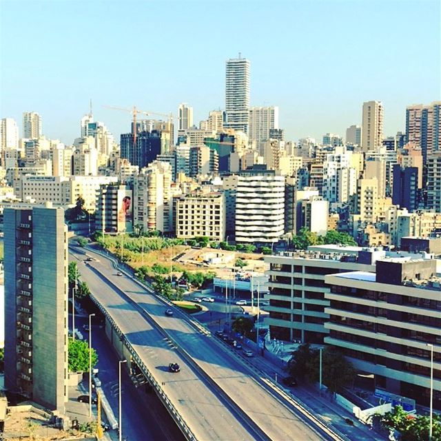 If only the streets were that empty. skyline summer goodvibes urban ... (Beirut, Lebanon)