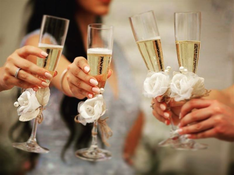 cheers to love and happiness... wedding sisters bridesmaids champagne...