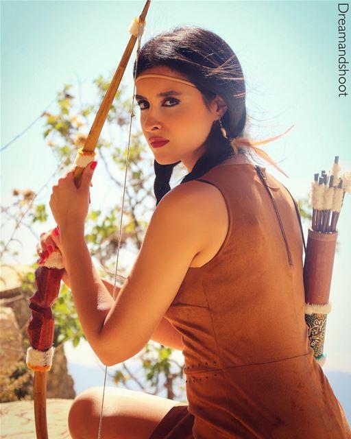 Pocahontas photoshoot by @adham_mayas @sylamc lebanon cloudporn 20likes... (Niha Fortress - قلعة نيحا)