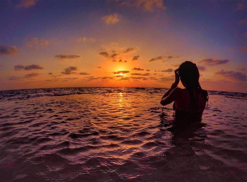 SunsetsXHer🌅@pyatahan .... sunset clouds beach oceon gopro sunsets...