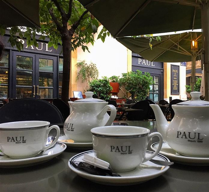 There's always Time for Tea 🍵 paulbakeryofficial paularabia ... (Downtown Beirut)
