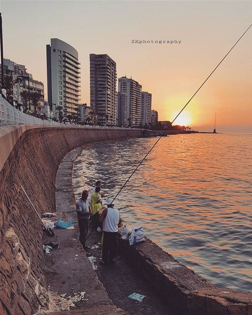 Fishing time 🌟 * ptk_lebanon  livelovelebanon  beirutconnected ... (Ain El Mreisse, Beyrouth, Lebanon)