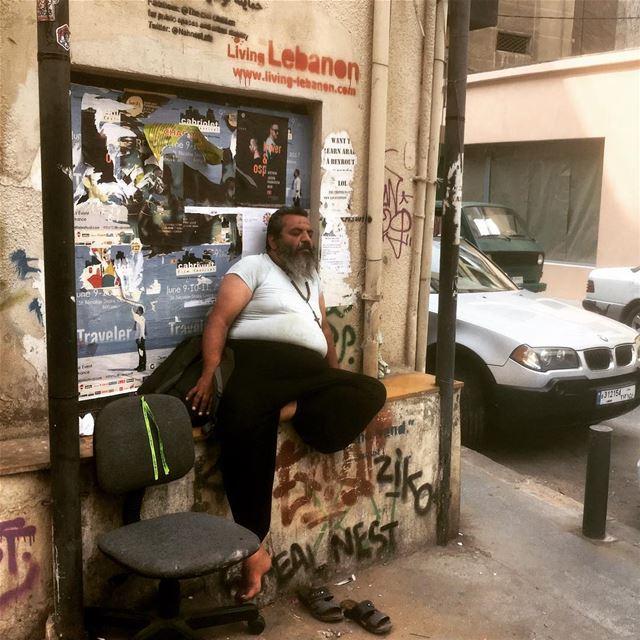 Nap time streetphotography documentaryphotography nap streetlife ... (Beirut, Lebanon)